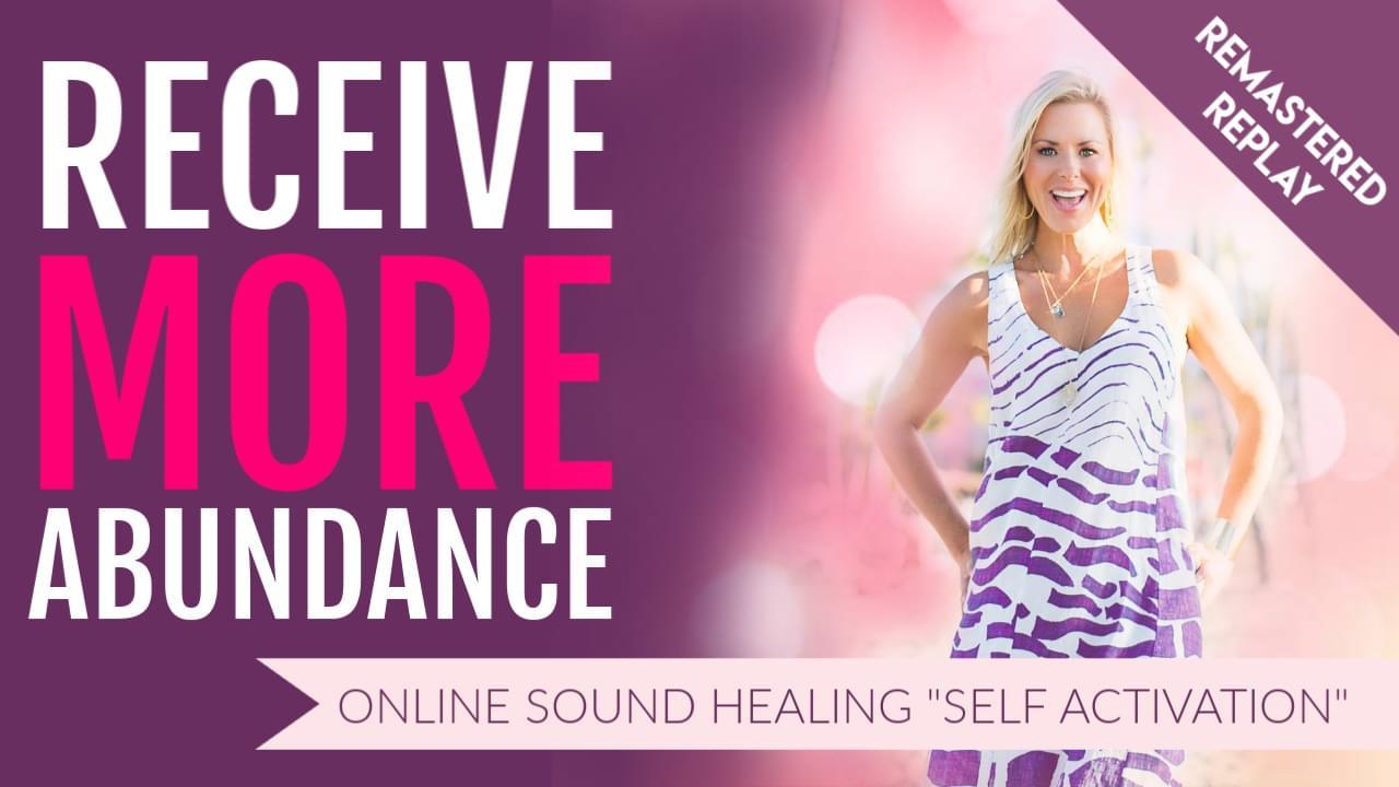 Receive More Abundance